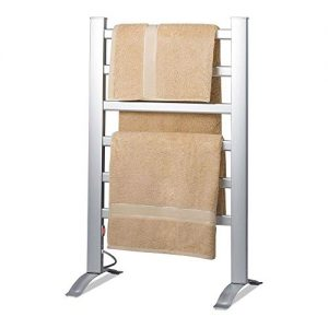 Knox Gear Aluminum Towel Warmer Rack - Freestanding and Wall Mountable - 6 Bar Electric Warm Bath Towel Heater