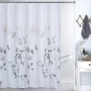 Julifo Shower Curtain Grey Polyester Fabric Bathroom Curtain Waterproof Shower Curtains,72 X 72 INCH (Grey)
