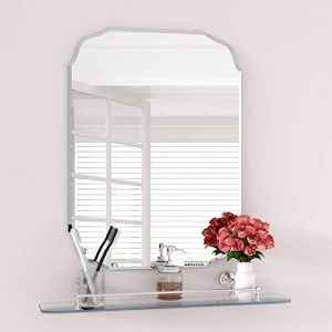 """MX.home Wall Silver Backed Mirrored Glass Panel Best for Vanity, Bedroom, or Bathroom (18""""x 24""""), Sliver"""