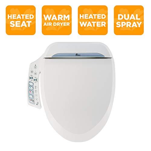 BioBidet BB-600 BB600 Ultimate Advanced Bidet Toilet Seat, White, Elongated
