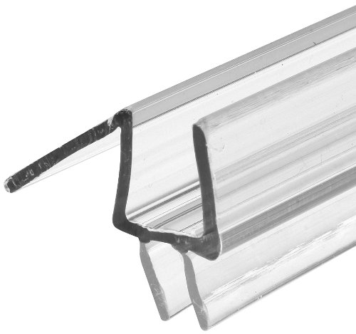 """Prime-Line M 6258 Frameless Shower Door Bottom Seal – Stop Shower Leaks and Create a Water Barrier (3/8"""" x 36"""", Clear Vinyl)"""