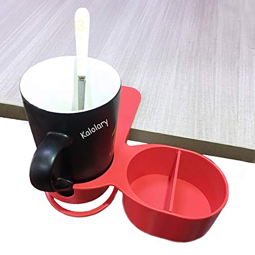 Supercope New Type Drinking Cup Holder Clip- 2019 Latest Model Chair and Table Bottle Cup Clip The DIY Glass Clamp Water Coffee Mug Holder Clip with Extra Storage Tray Design for Home & Office,Red