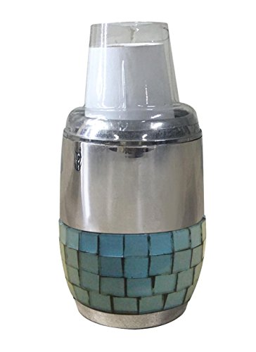 nu steel nusteel Aqua Mosaic Dixie Modern Sleek Metal Compact Small Disposable Paper Dispenser Storage Holder for Rinsing for Bathroom Vanity Countertops, 3 oz. paper cups only, Chrome Finish