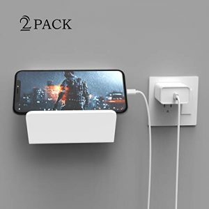 iPad Wall Mount Holder, Geekboy White Shower Phone Holder Bathroom Tablet Wall Mount Stand Charger with Suction Cup for Kitchen, Bathroom, Bedroom, Readingroom and More, 2 Pack