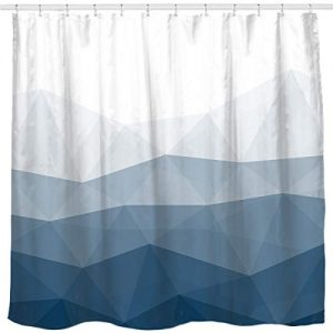 Sunlit Designer Shower Curtain,Popular Shower Curtain, Ombre Blue Fabric Shower Curtains for Bathroom Decor, Contemporary Bathroom Curtains