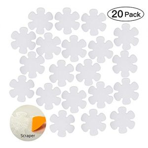 KarlunKoy Non Slip Bathtub Stickers Adhesive Safety Shower Treads Sticker Tub Tattoo Bathroom Applique Decal with Scraper Pack of 20 (Clear)