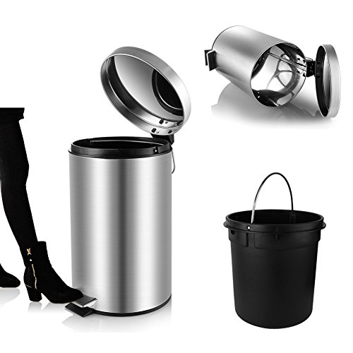 mini trash can with lid soft close, magdisc round bathroom