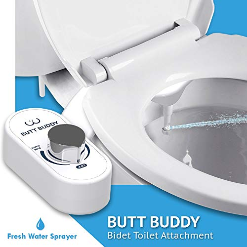 In My Bathroom   Butt Buddy - Fresh Water Bidet Toilet Attachment (Easy to Install, Self-Cleaning, Non-Electric)