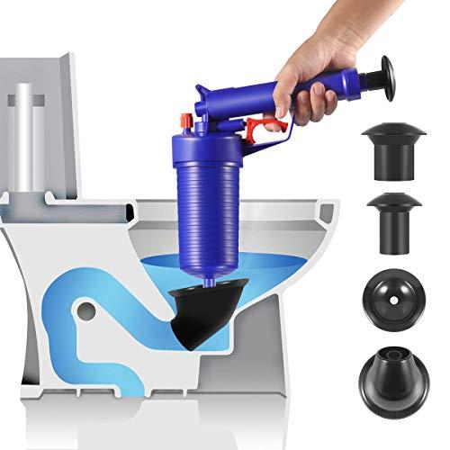 Toilet Plunger, 2020 Upgrade Air Drain Blaster, Pressure Pump Cleaner, High Pressure Plunger Opener Cleaner Pump for Bath Toilets, Bathroom, Shower, Sink, Bathtub, Kitchen Clogged Pipe