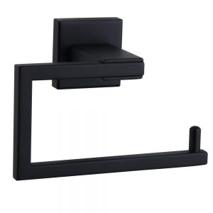 Matte Black Toilet Paper Holder SUS 304 Stainless Steel Wall Mounted Toilet Tissue Roll Holder for Bathroom