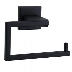 Matte Black Toilet Paper Holder SUS 304 Stainless Steel Wall Mounted Toilet Tissue Roll Holder for Bathroom