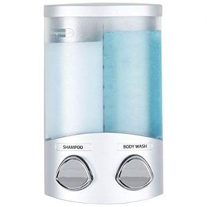 Better Living Products 76234-1 DUO 2-Chamber Dispenser, Satin Silver