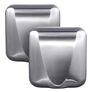 VALENS 2PCS Electric Hand Dryer with HEPA Filter, Efficiency Max Touchless Hand Dryer for Bathrooms Commercial & Home, High-Speed Automatic Hand Air Dryer Machine for Restrooms, Stainless Steel