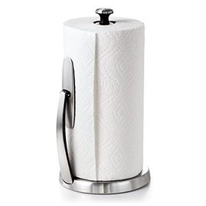 OXO Good Grips SimplyTear Standing Paper Towel Holder, Brushed Stainless Steel