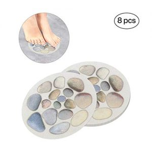 Ratgoo 8 Pcs Large Round Anti-Slip Decals with Vibrant Colors and Strong Adhesive,Ideal Stickers Non-Slip for Your Bathtub Shower Floor Kitchen Stairs.(Cobblestone)