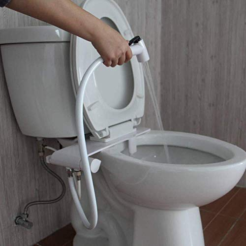 Shanasheel Bidet Toilet Attachment and Cleaning Nozzle Fresh Water Non Electric Mechanical Spray Dual and Adjustable Pressure Wash Lever Sprayer Brass Inlet Internal Valve Nozzles