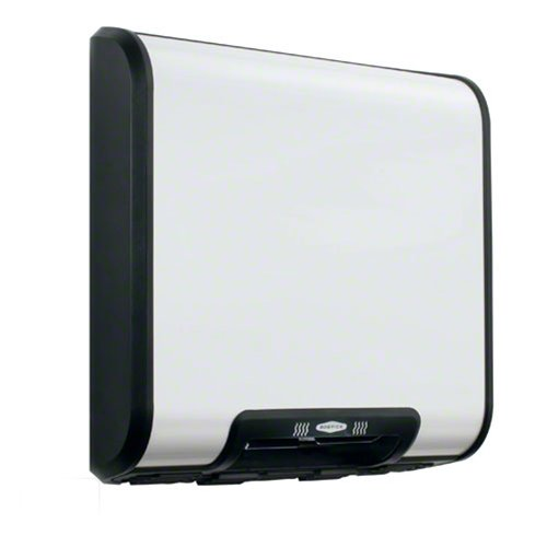 Bobrick 7120 TrimLineSeries Zinc-Plated Steel ADA Surface-Mounted Automatic Hand Dryer, White Epoxy Finish, 115V