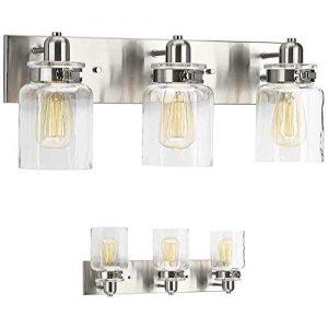 Bathroom Vanity Light Fixture - Bath Interior Lighting (Brushed Nickel, 3 - Lights)