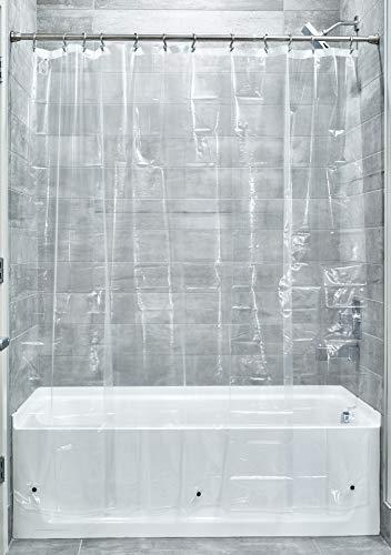 "iDesign Waterproof PEVA Bathroom Shower Curtain Liner - 72"" x 72"", Clear"