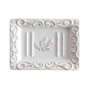 Pre de Provence Soap Dish with a White-Washed Terracotta Finish