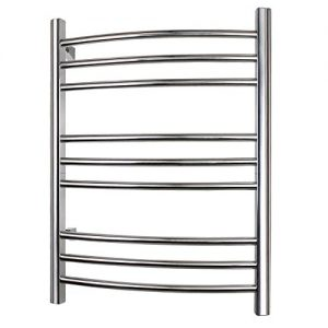 WarmlyYours Riviera Towel Warmer Rack, 9 bar, Brushed Stainless Steel