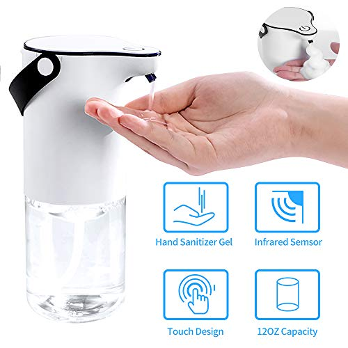 Timebox Automatic Touchless Soap Dispenser, Wall Mounted Hand Sanitizer Soap Dispenser for Bathroom Kitchen, Built-in Rechargeable Battery Operated - 12OZ(350ml)