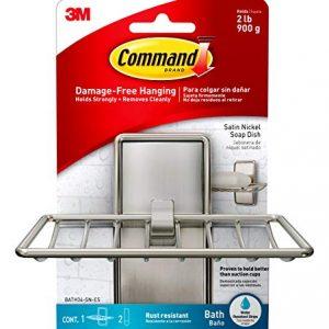 Command Soap Dish, Satin Nickel, 1-Soap Dish (BATH34-SN-ES), Organize your dorm