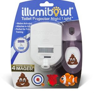 IllumiBowl Toilet Projector Night Light- Motion Activated Image Projector Light