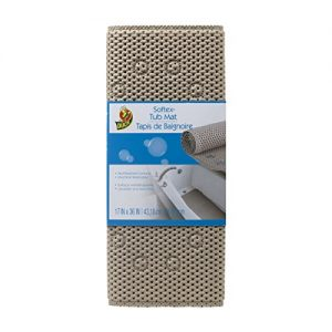 Duck Brand Softex Bath Mat, 17 in. x 36 in, Taupe (442097)