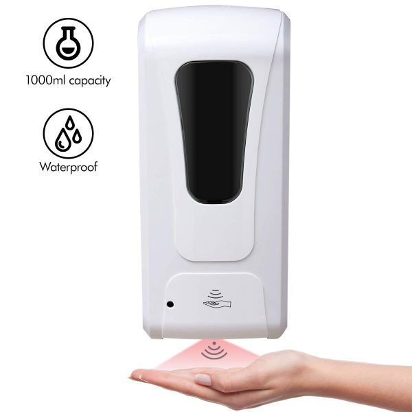 Focus Line Automatic Soap Dispenser Wall Mount, Bathroom Soap Dispenser 1000ML Large Capacity, Touchless Auto Soap Dispenser for Kitchen Hotel Hospital School