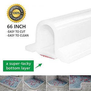 66 Inch Collapsible Shower Threshold Water Dam, Ideal for Wheelchair Accessible, Accessibility or ADA Showers