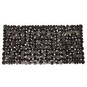 "Non-Slip Pebbles Stone Bath Mats,Slip-Resistant Pebble Shower Mats, Anti-Slip Bathtub Mats, Machine Washable (Black, 14"" W x 27"" L, Please Check The Size)"
