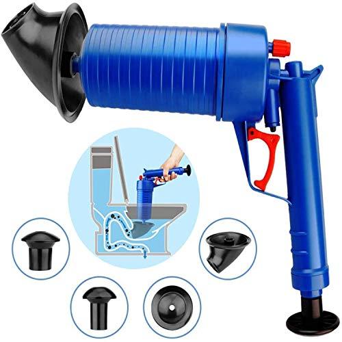Drain Clog Remover, Toilet Plunger Pressure Pump Cleaner, High Pressure Plunger Opener Cleaner Pump Bath Toilets, Bathroom, Shower, Kitchen Clogged Pipe Bathtub