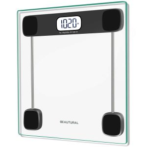 Beautural Precision Digital Body Weight Bathroom Scale with Lighted Display, Step-On Technology, 400 lb, 2 AAA Batteries Included