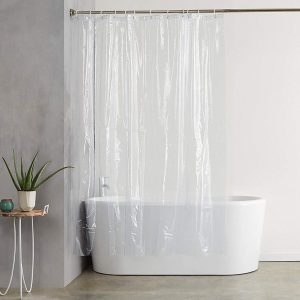 DEESEE(TM) Transparent Shower Curtain, Waterproof Clear Bathroom Lining PEVA Curtains with 3 Magnets