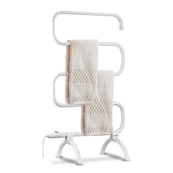 Homeleader Towel Warmer and Drying Rack, Heated Towel Rack, Wall Mount & Free Standing Towel Heater for Bathroom, 120W