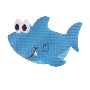 TOPBATHY Anti Slip Stickers Shark Tub Decal Non Slip Paster Applique for Bath Shower Bathroom Bathtub Tubs Swimming Pool (Blue) 5pcs