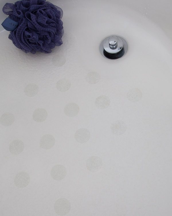 """SlipDoctors Anti-Slip Bathtub and Shower Appliques, 28-Pack Circle Appliques. Increase Traction and Prevent Falls in The Tub (1.5"""", Clear)"""
