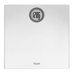 Vitafit Digital Body Weight Bathroom Scale Weighing Scale with Step-On Technology, LCD Display(400lb),Batteries Included, Elegant Silver