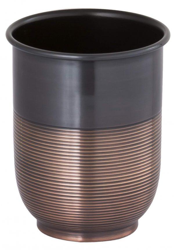 Buffalo Brand Trading Company, Heavyweight Brass, Oil Rubbed Bronze Finish, Bathroom Water Tumbler, 4 Inch Height