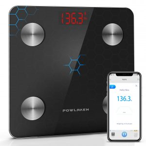 [2020 LATEST] Bluetooth Bathroom Digital Body Fat Weight Scale, Smart Wireless BMI Weighing Scales, Tracks Body Composition Analyzer Scale with Smartphone App for Water, BMI, BMR, Muscle Mass(400 lbs)