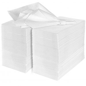eDayDeal Disposable Cloth-Like Paper Hand Guest Towels - Soft, Absorbent, Air Laid Tissue Paper for Kitchen, Bathroom or Events, White Guest Towel (100)