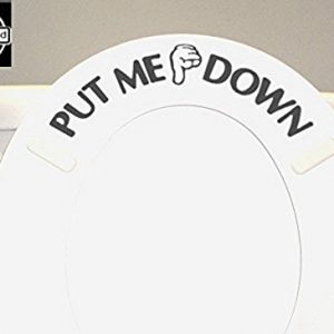 BERRYZILLA Put ME Down Decal Toilet Bathroom Seat Vinyl Sticker Sign Reminder for Him
