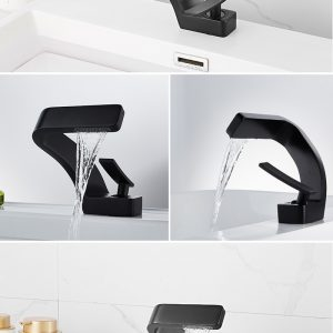 Single Hole Water Tap Bathroom Deck Mounted Basin Faucet