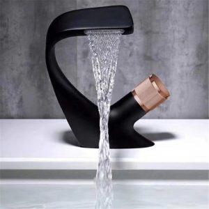 Bathroom Sink Faucets Hot Cold Water Mixer Crane