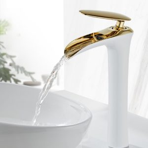 Chrome Waterfall Faucet Hot Cold Mixer