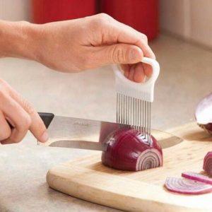 Onion Slicer Tomato Vegetables Safe Fork Vegetables