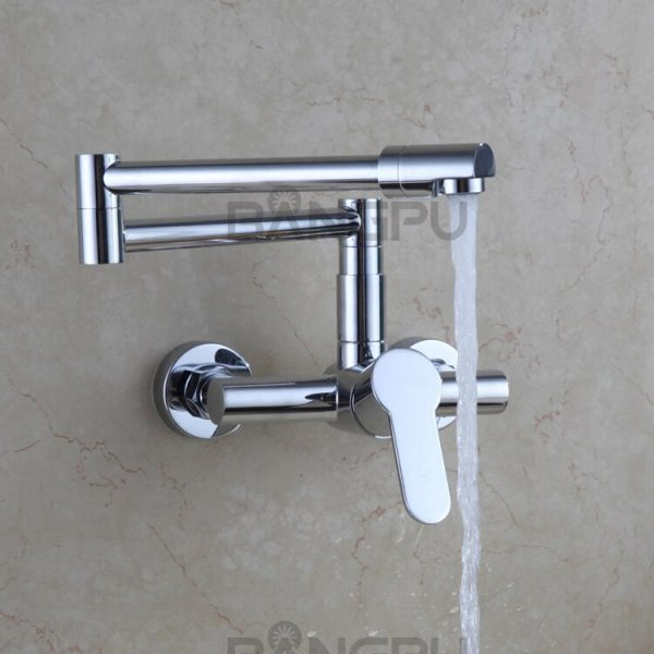 Kitchen Folding Retractable Rotary Stretch Sink Faucet