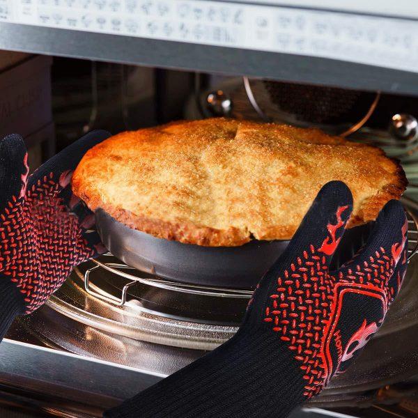 Heat Glove Resistant BBQ Oven Gloves Kitchen
